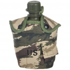 Military Plastic Thermos Mug Cup with Carrying Pouch - Army Green (1l)