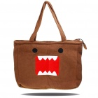 Cute Domo-Kun Style Soft Plush Handbag