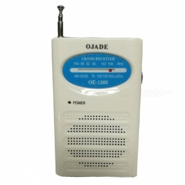 OJADE OE-1205 FM/AM Radio Receiver - White + Blue + Black