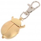 Mini Gold Beetle Waterproof Pocket Watch with Keychain (1*377)