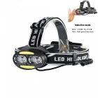 AIBBER TONE IR Sensor USB Rechargeable Headlamp 4-LED XM-L T6 2-COB Headlight