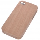 Protective Wood Style PU Back Case for Iphone 4