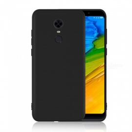 Dayspirit Protective Matte Frosted TPU Back Case for Xiaomi Redmi Note 5 (Redmi 5 Plus) - Black