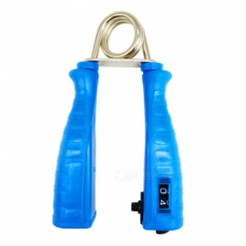 Portable Mechanical Counting Grip, Finger Rehabilitation Apparatus - Blue