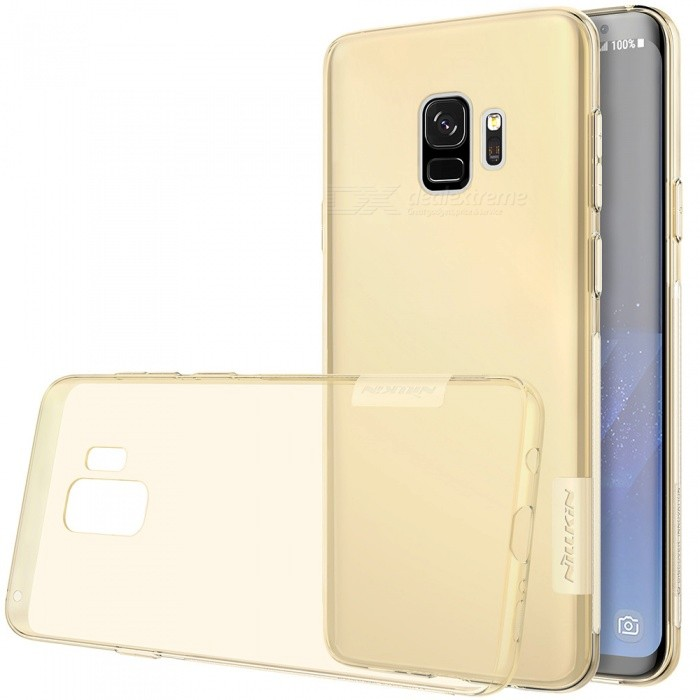Nillkin Soft TPU Protective Cover Case for Samsung Galaxy S9 - BrownTPU Cases<br>ColorBrownModelSamsung Galaxy S9ModelNSXS900BS02Quantity1 pieceShade Of ColorBrownCompatible ModelsSamsung Galaxy S9DesignSolid Color,TransparentStyleBack Cases,Full Body CasesPacking List1 x Nillkin Nature TPU Case<br>