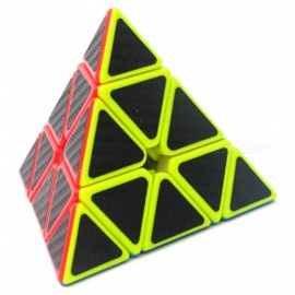 Triangle Shape Carbon Fibre Rubik's Magic IQ Cube Toy for Kids, Adults