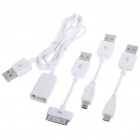 Multi-Function Charging & Data Cable with Three Adapters (Mini USB + iPhone 3G/3GS + Micro USB)