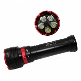 ZHAOYAO XM-L2 5-LED Outdoor IP68 Waterproof 4-Mode Diving Flashlight - Black