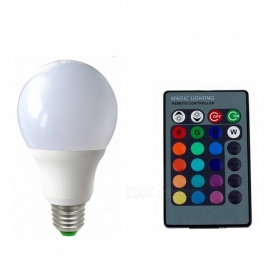 ZHAOYAO A60 Dimmable E27 5W AC 85-265V LED Light Bulb RGB + White 16 Colors with Remote Controller