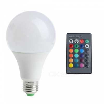 ZHAOYAO A80 Dimmable E27 9W AC 85-265V LED Light Bulb RGB + White 16 Colors with Remote Controller