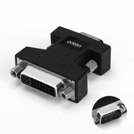 DVI naar VGA high-definition adapter DVI 24 + 5 man-vrouw interface-adapter