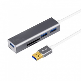 USB 3.0 kaartlezer hoge snelheid USB HUB multifunctionele SD / TF kaartlezer - 0.2 meter kabel