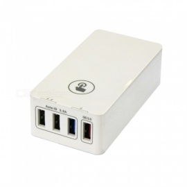 snabb laddning QC3.0 40W 4-port USB smart laddare - vit (EU-kontakt)