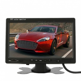 7 Inches Desktop Automotive MP5 Car Display Monitor - Black