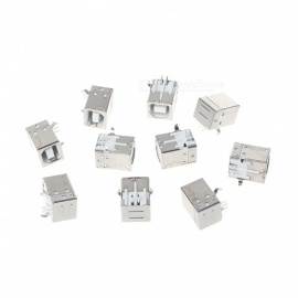 20PCS USB Female Type B Connector 90 Degree Square Half Copper Adapter Accessories for Printer
