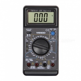M890D LCD Handheld Digital Multimeter for Home and Car - Black + Blue
