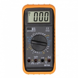MY64 LCD håndholdt digitalt multimeter for hjemme og bil - svart