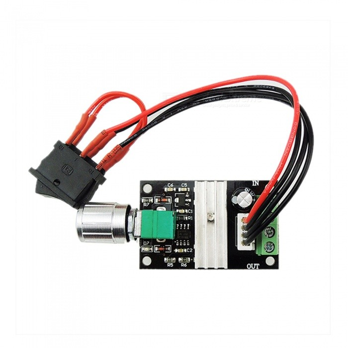 ZHAOYAO 6V 12V 24V 3A PWM DC Motor Speed Switch - BlackDIY Parts &amp; Components<br>ColorblackQuantity1 pieceMaterialABS+ electronic componentsEnglish Manual / SpecNoCertification-Packing List1 x Control<br>