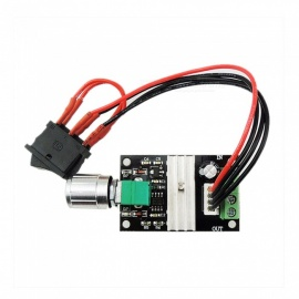 ZHAOYAO 6V 12V 24V 3A PWM DC Motor Speed Switch - Black