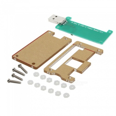 Geekworm Acrylic Case + Raspberry Pi Zero W USB-A Addon Badusb Board Kit for Raspberry Pi Zero W