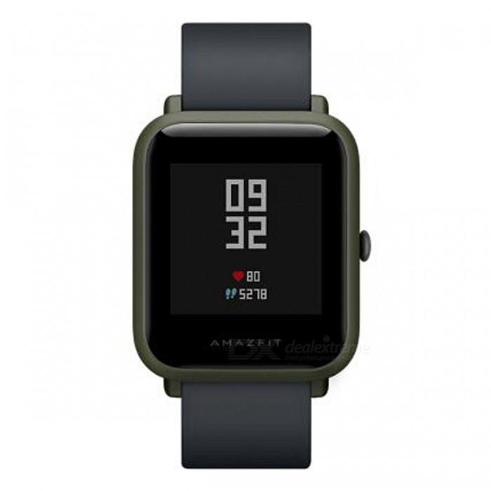 Xiaomi Huami Amazfit Bip BIT PACE Lite Youth Version Smart Watch - Green (English Edition)Smart Watches<br>Form  ColorGreenModelA1608Quantity1 setMaterialPlastic cementShade Of ColorGreenCPU ProcessornoScreen Size1.28 inchScreen Resolution0Touch Screen TypeYesBluetooth VersionBluetooth V4.0Compatible OSandroid4.4ios8.0ios9.0ios10ios11LanguageEnglishWristband Length19.5 cmWater-proofIP68Battery ModeNon-removableBattery Capacity200 mAhStandby Time69 hoursPacking List1 x Watch1 x Recharge stand 1 x User Manual (Chinese)<br>