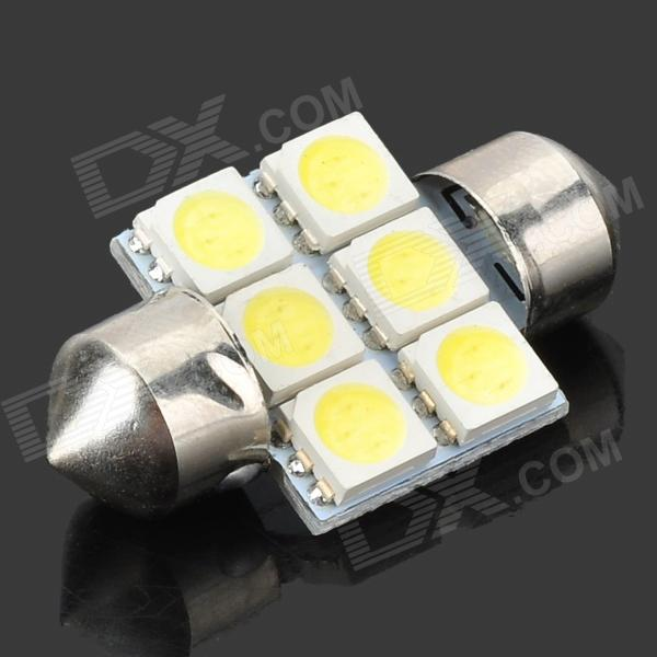 31mm 1.35W 6-SMD LED 84-Lumen 8400K Cool White Dome Light (DC 12V)