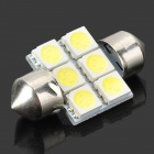 31mm 1.35W 6-SMD LED 84-Lumen 6500K White Dome Light (DC 12V)