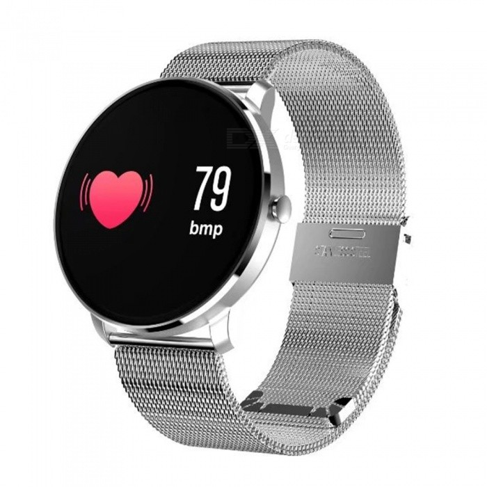 CF007S Color Screen Intelligent Smart Bracelet Watch with Heart Rate / Blood Oxygen / Sleep Monitoring - SilverWearable Device Accessories<br>ColorSilverModelCF007SQuantity1 setPacking List1 x Smart Bracelet<br>