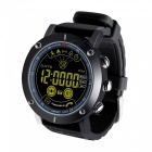 5ATM Waterproof Smart Clock Watch, Fitness Band with Step Pedometer / Stopwatch - Black
