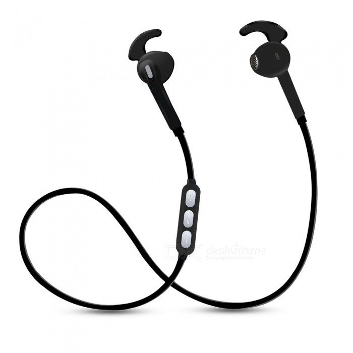 OJADE Sports Music Running Wireless Bluetooth In-Ear Earhook Stereo Headphones - BlackHeadphones<br>ColorblackBrandOthers,ojadeMaterialABSQuantity1 pieceConnectionBluetoothBluetooth VersionBluetooth V4.1Headphone StyleEarbud,Ear-hookWaterproof LevelOthersApplicable ProductsUniversalHeadphone FeaturesPhone Control,Long Time Standby,With Microphone,For Sports &amp; ExerciseSupport Memory CardNoSupport Apt-XNoPacking List1 x Headset<br>