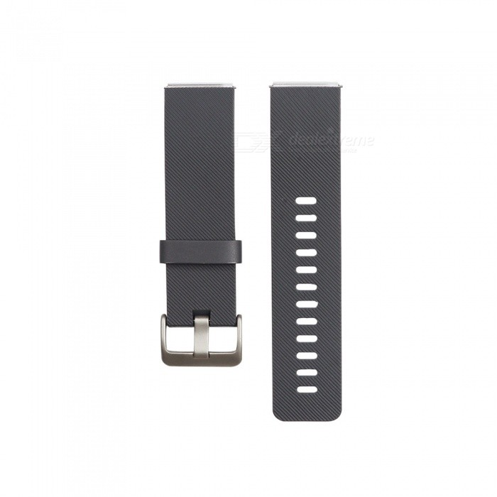 Smart Watch Color TPE Strap For Fitbit Blaze - GrayWearable Device Accessories<br>ColorGrayModelN/AQuantity1 setMaterialTPEPacking List1 x Strap (12.7cm)1 x Strap (10.6cm)<br>