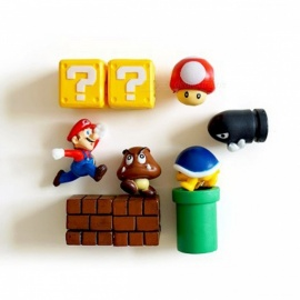 3D Cute Super Mario Decorative Children's Stereo Fridge Magnet, Creative Refrigerator Magnetic Sticker