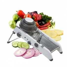 Adjustable Multifunctional Vegetable Food Potato Slicer, Professional Stainless Steel Blade Kitchen Mandoline Grater