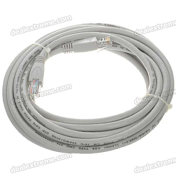 24AWG 4PRS Power Sync Cat 6 RJ-45 Network Line Cable (5M)