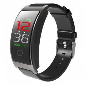 "CK11C 0.96"" OLED IP67 impermeable pulsera bluetooth4.0 color pantalla inteligente - gris + negro"