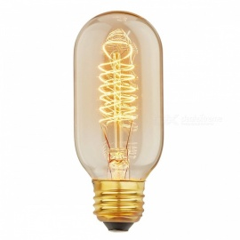 YouOKLight YK0819 E27 Vintage Style 40W T45 Filament Edison Light Bulb for Home Light Fixtures Decoration, AC110-130V