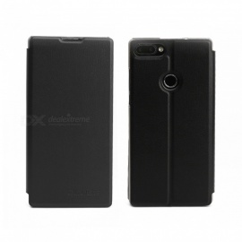 OCUBE Protective Flip-open PU Leather Case for Vernee Mix 2 6.0 Inches - Black