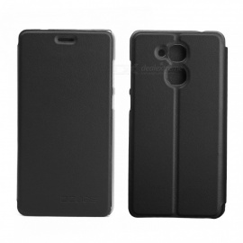 OCUBE Protective Flip-open PU Leather Case for Vernee M5 5.2 Inches - Black
