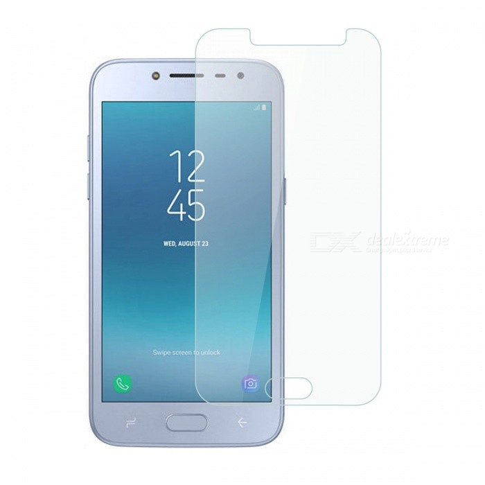 Dayspirit Tempered Glass Screen Protector for Samsung Galaxy J2 Pro (2018)Screen Protectors<br>ColorTransparentModelN/AMaterialTempered glassQuantity1 setCompatible ModelsSamsung Galaxy J2 Pro (2018)FeaturesTempered glassPacking List1 x Tempered glass screen protector1 x Dust cleaning film 1 x Alcohol prep pad<br>
