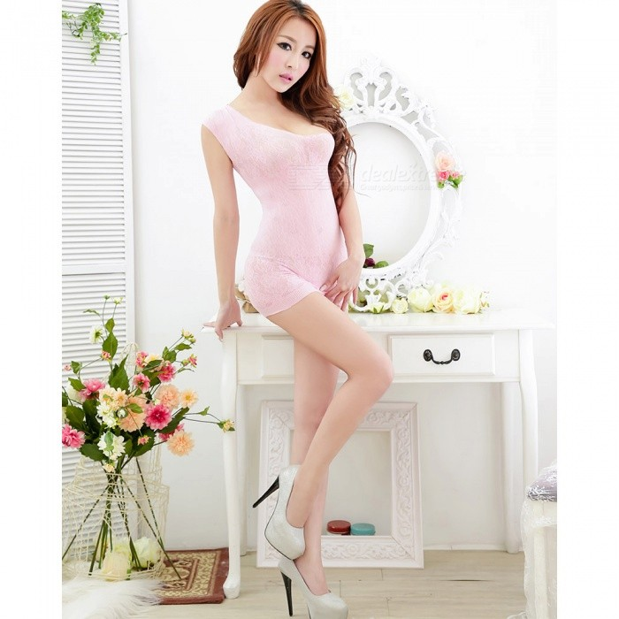 Fanshimite Sexy Dress Sexy Lingeries for Women - PinkSexy Lingerie<br>ColorPinkModelWWA-KL-038Quantity1 pieceShade Of ColorPinkMaterialNylonStyleUltra SexyShoulder Width30 cmChest Girth30 cmWaist Girth30 cmTotal Length100 cmPacking List1 x Dress<br>