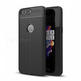Dayspirit Lichee Pattern TPU Back Case for OnePlus 5, 1+5 - Black