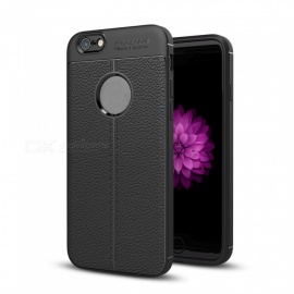 dayspirit lichee pattern TPU funda para iphone 6 plus, 6S plus - negro