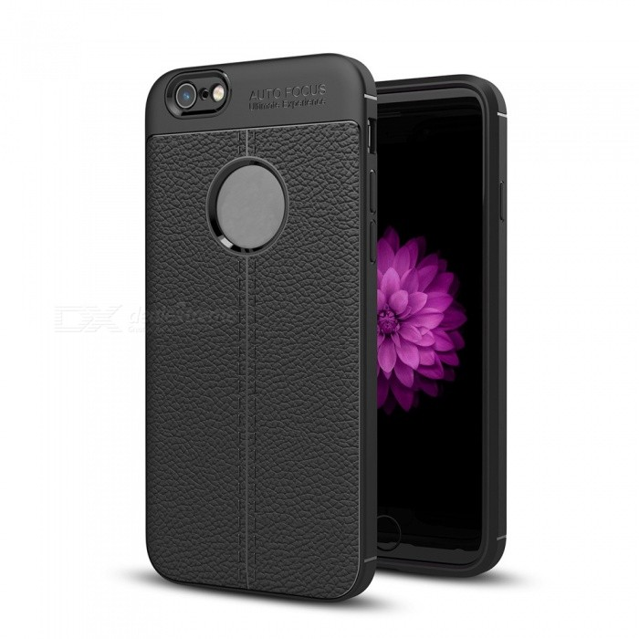 Dayspirit Lichee Pattern TPU Back Case for iPhone 6, 6s - BlackTPU Cases<br>ColorBlackModelN/AMaterialTPUQuantity1 pieceShade Of ColorBlackCompatible ModelsiPhone 6 , 6sPacking List1 x Case<br>