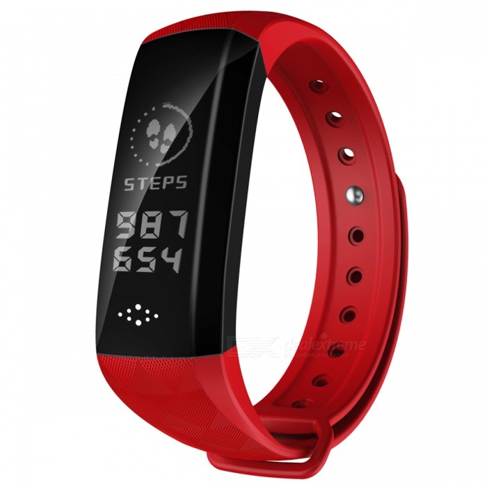 M2H Bluetooth Smart Bracelet Continuous Heart Rate Monitor IP67 Waterproof Smart Band - RedSmart Bracelets<br>ColorRedModelM2HQuantity1 setMaterialPlasticWater-proofIP67Bluetooth VersionBluetooth V4.0Touch Screen TypeOthers,OLEDCompatible OSIOS 8.0 and above, Android 5.0 and above (with Bluetooth 4.0)Battery Capacity90 mAhBattery TypeLi-polymer batteryStandby Time3-7 daysPacking List1 x Smart Band1 x User Manual<br>