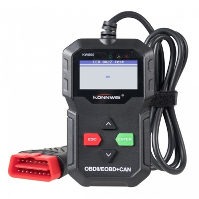 KONNWEI KW590 OBD2 Car Diagnostic Scanner, Multi-languages Auto Code Reader in Russian, Better than AD310 KW806 MS509