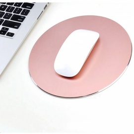 220 x Tapis de souris en alliage d'aluminium de forme ronde de 220 mm - or rose