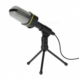 Kitbon SF-920 Condenser Microphone w/ Tripod for PC Laptop Notebook - Black