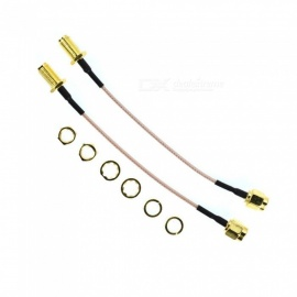 YENISEI SMA Male to SMA Female Jack RF Coaxial Coax Pigtail Cable (12cm / 2 PCS)