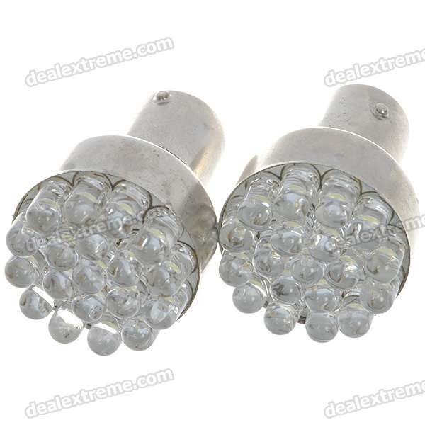 1157 1W 85LM 6500K 19-LED White Light Car Brake/Backward Signal Light Bulbs - Pair (DC 12V)