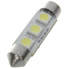 39mm 0.9W 42LM 6500K 3-SMD LED Dome White Light Bulb (DC 12V)